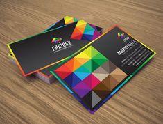 colorful business card multi color
