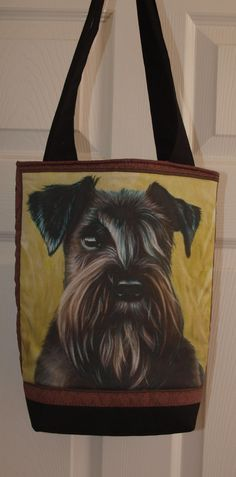 Lovely Quilted Schnauzer Tote Hand Bag by woosbagsandcrafts, £10.00