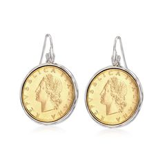 Ross-Simons Italian Genuine Coin Drop Earrings in Sterling Silver >>> We do hope that you do enjoy the image. (This is our affiliate link) Mens Silver Necklace, Silver Drop Earrings, Sterling Silver Earrings, Silver Ring, Silver Bracelets, Dangle Earrings, Vintage Gold Rings, Coin Jewelry, Jewlery