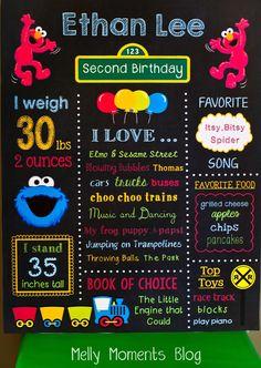 Melly Moments: Sesame Street & Elmo Themed Birthday Party