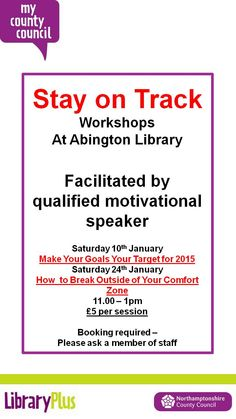 Stay on Track Abington Library