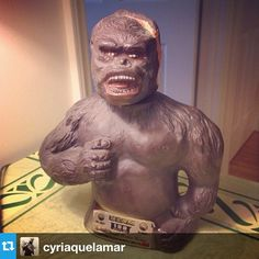 """Cyriaque Lamar: """"As a promo in the 1970s, Jim Beam sold their horrid whiskey in horrid King Kong shaped bottles. I bought one, because I enjoy stupid things."""""""