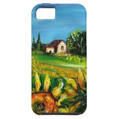 SUNFLOWERS AND COUNTRYSIDE IN TUSCANY iPhone 5 CASE