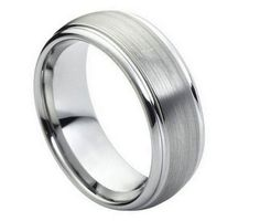 Tungsten Carbide, Gauge 8MM, Comes in a Cotton Filled Gift Box, Hypoallergenic Comfort Fit
