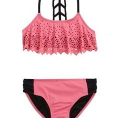 50ebe9dd55f86 Shop Cutout Flounce Bikini Swimsuit and other trendy girls new arrivals  features at Justice. Find the cutest girls features to make a statement  today.