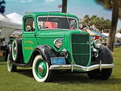 Old Green Ford  #pickup #truck #green #vintage #speedshopnorth #white walls #classic