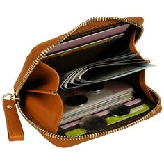 1a780d5d519a YALUXE Women s Compact Leather Card Case Wallet with Zipper     Awesome  product. Click