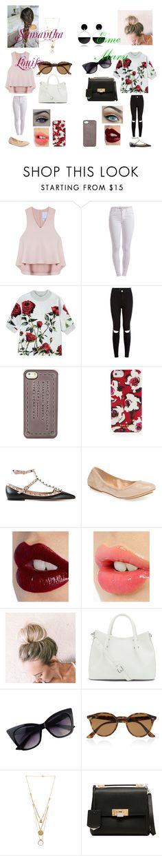 """""""Getting To Know Esme"""" by dreaming-of-a-better-tomorrow ❤ liked on Polyvore featuring Cameo, Pieces, Dolce&Gabbana, New Look, Marc by Marc Jacobs, Kate Spade, Valentino, Cole Haan, Charlotte Tilbury and xO Design"""