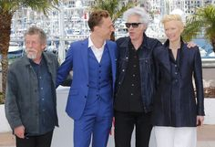 Director Jim Jarmusch, cast members John Hurt, Tom Hiddleston and Tilda Swinton-Only Lovers Left Alive.