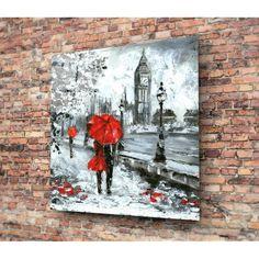 Skleněný obraz Insigne Romance On Streets, 30 x 30 cm 30th, Romance, Street, Painting, Decorations, Romance Film, Romances, Painting Art, Dekoration
