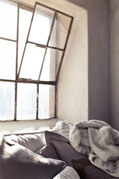 Things I love: Iron windows — Sarah Catherine Design Iron Windows, Windows And Doors, High Windows, Interior Architecture, Interior And Exterior, Interior Design, Cosy Interior, Interior Windows, Bedroom Windows