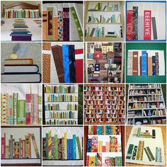 quilts for a book lover... so clever.  Have got to learn paper piecing