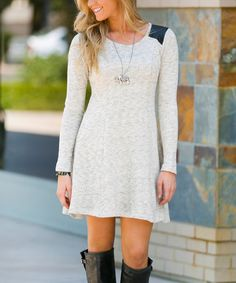 Another great find on #zulily! Beige Presley Sweater Dress - Women #zulilyfinds