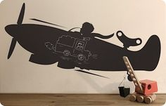 Chalkboard sticker Airplane