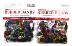 Donna 2 Pack of 250 Pieces Hair Rubber Bands Total 500 Pieces *** Read more reviews of the product by visiting the link on the image.
