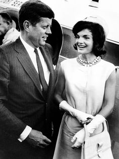 President John F. Kennedy with his wife Jacqueline Kennedy, 1960.