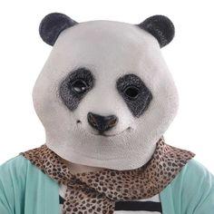 Amazon.com - KingMas Halloween Panda Head Latex Mask Party Animal Toy Prop - Decorative Masks