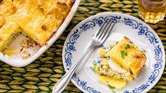 Francouzské brambory s vejci a uzeným masem - Proženy