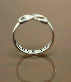 "Infinite ring inscribed ""I LOVE YOU"" <3 i've always wanted a promise ring.."