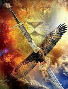 Eagle Pictures, Lion Pictures, Christian Artwork, Christian Pictures, Lion Of Judah Jesus, Lion Photography, Lion And Lamb, Lion Images, Christian Warrior