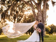 Gorgeous sunset wedding photograph at The Barn at Lone Oak Acres in Parrish, FL. Www.loneoakacresfl.com