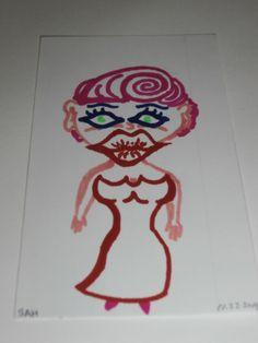 2-17-2015 Woman cartoon character