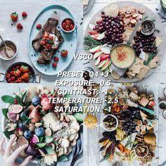 Instagram Themes Vsco, Instagram Feed, Instagram Design, Best Vsco Filters, Photo Editing Vsco, Food Photography, Photography Composition, Vsco Themes, Insta Ideas