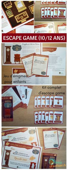 Escape game for children The mystery of the hotel des Victoires 1012 years