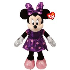 New TY Beanie Babies Minnie Mouse - Purple Sparkle $6.95