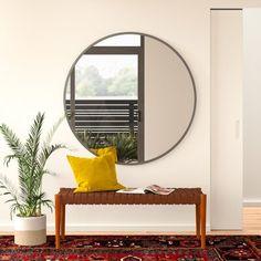 Rockton Modern & Contemporary Accent Mirror Size: x Finish: Silver All Modern, Modern Decor, Modern Contemporary, Modern Furniture, Baroque Furniture, Rustic Decor, Earthy Decor, Modern Condo, Modern Wall