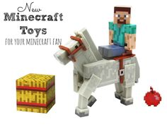 New Minecraft Toys --- Do you have a Minecraft fan to purchase a gift for? Or maybe you're wanting to get a super early start on your Holiday shopping. These new Minecraft action figure sets are the perfect gift to give! Your child can bring Minecraft to life and act out scenes. How fun!