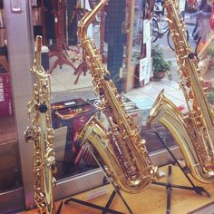 soprano, alto, and tenor sax