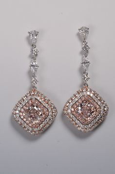 "GIA 1.73 +1.73 Light Pinks.  VS1+ VS2   A ""Rosy Pink"" Fine Collection piece"