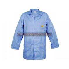 Halat ESD, marime S, unisex, albastru, Reeco - 007016