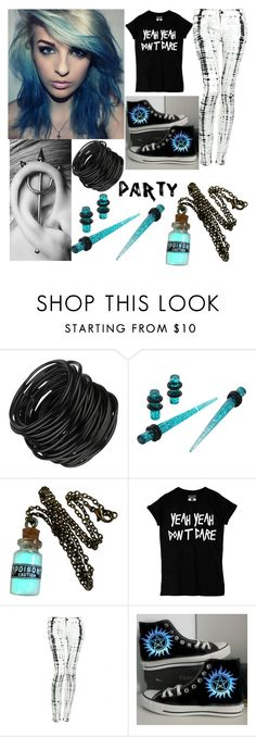 """Untitled #165"" by awesome-lyk-that ❤ liked on Polyvore featuring Hudson Jeans and Converse"