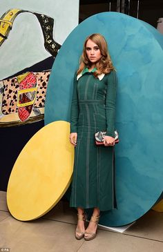 Suki Waterhouse attends the private Burberry event during The London Collections Men SS17 at Burberry on June 10, 2016