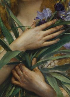 Georges Roussin, Ophelia,1854 (detail)