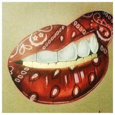 Blood Wallpaper, Lip Wallpaper, Cholo Art, Chicano Art, Bandana Tattoo, Bandana Print, Tattoo Drawings, Art Drawings, Arte Do Hip Hop