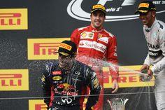 Ricciardo , Alonso , Hamilton  Hungaroring 2014