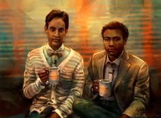 Troy and Abed in the morning! by Alice X. Zhang