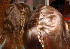 Twin Cousins love the side french braid