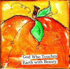 God Who Touches Earth with Beauty Pumpkin by isabelsdoodles