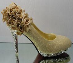 $93.44 wedding shoes/ sequined flowers nightclubs high-heeled dancing shoes-ZZKKO
