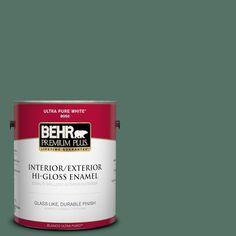 BEHR Premium Plus 1-gal. #470F-6 Hilltop Hi-Gloss Enamel Interior/Exterior Paint
