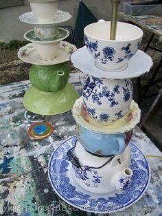 DIY:  How to Make a Teapot Lamp - via My Repurposed Life