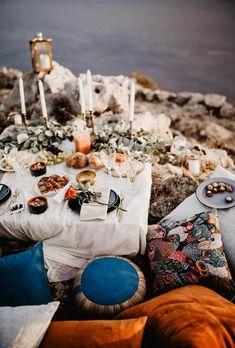 engagement picnic - boho chic #engagement #engagementsession #picnic
