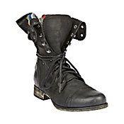 Camarro Black Distressed Boot - Steve Madden