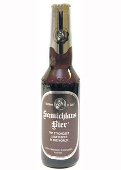 It's one of the strongest beers in the world with 14% alcohol by volume, and is brewed only once a year on December 6th in a castle in Upper Austria and then aged for ten months before bottling.