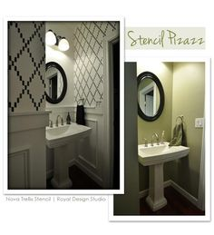 Wall & Furniture Stencil Project Ideas | http://www.royaldesignstudio.com/