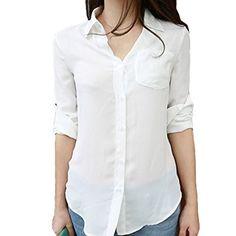 Partiss Womens Long Sleeve Chiffon Shirt